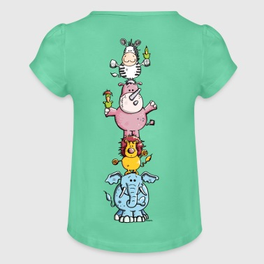 Funny Animal Circus - Zoo Shirts - Girl's T-shirt with Ruffles