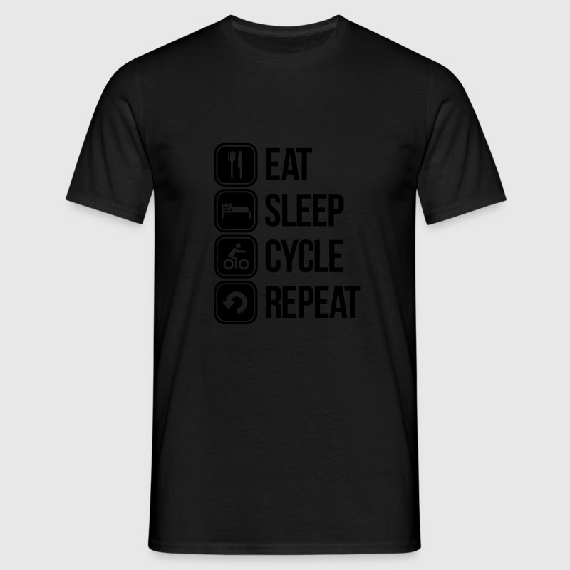 eat sleep cycle repeat Camisetas - Camiseta hombre