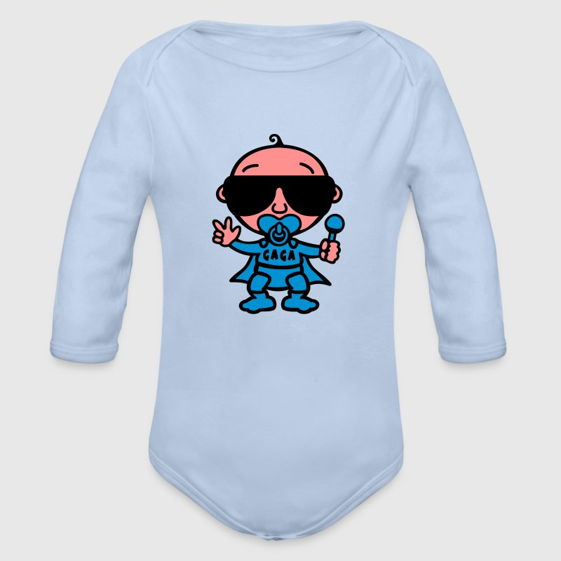 Cool Baby Superheld (Color) Pullover & Hoodies - Baby Bio-Langarm-Body