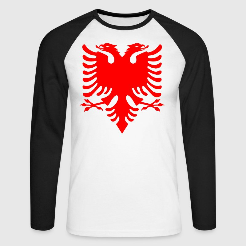 Albanian Eagle Herald Red Long sleeve shirts - Men's Long Sleeve Baseball T-Shirt