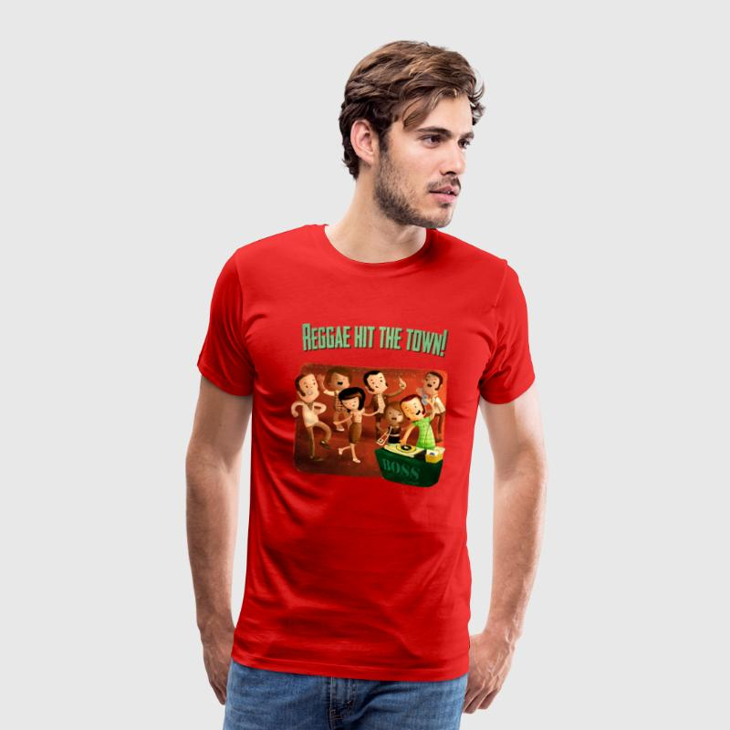 Reggae hit The Town! T-Shirts - Men's Premium T-Shirt