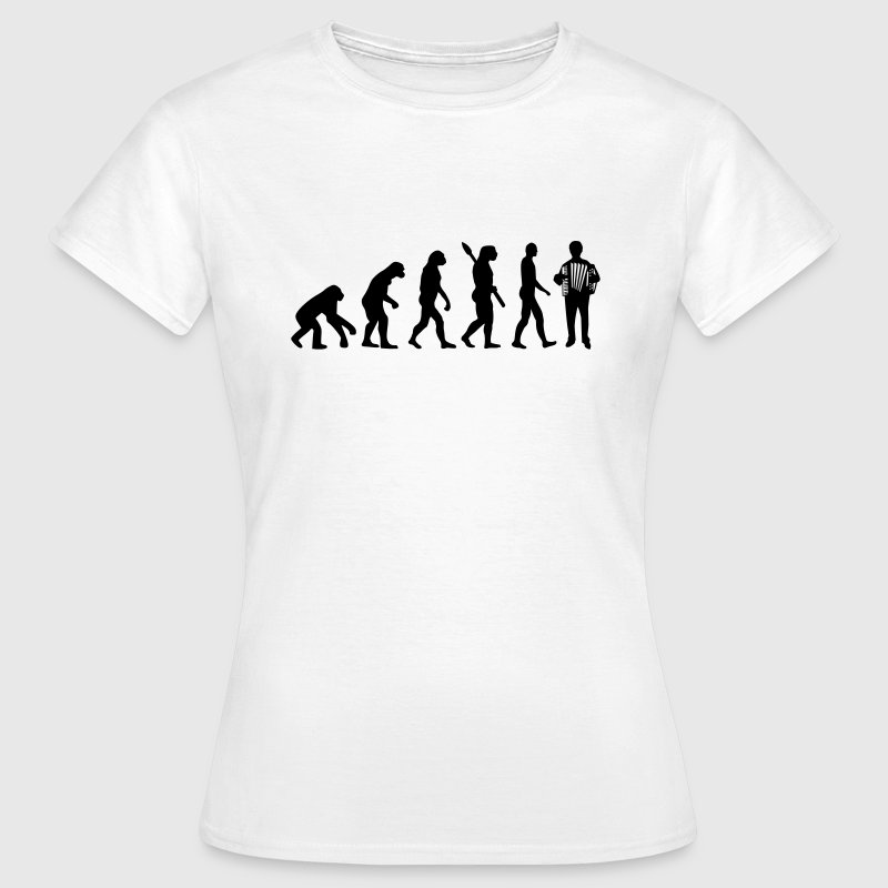 Evolution Akkordeon T-Shirts - Frauen T-Shirt