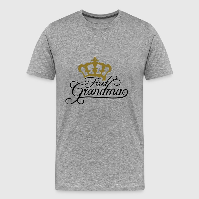 First Grandma Queen Crown Design T-Shirts - Men's Premium T-Shirt