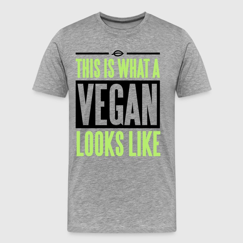 This is what a vegan looks like T-shirts - Mannen Premium T-shirt