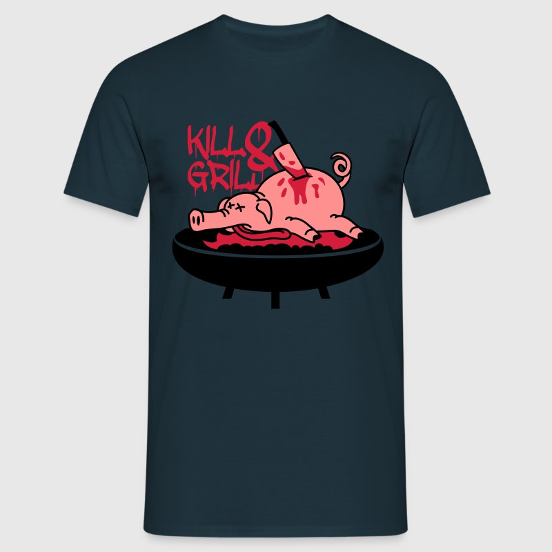 Barbecue grill couteau tuer cochon Tee shirts - T-shirt Homme