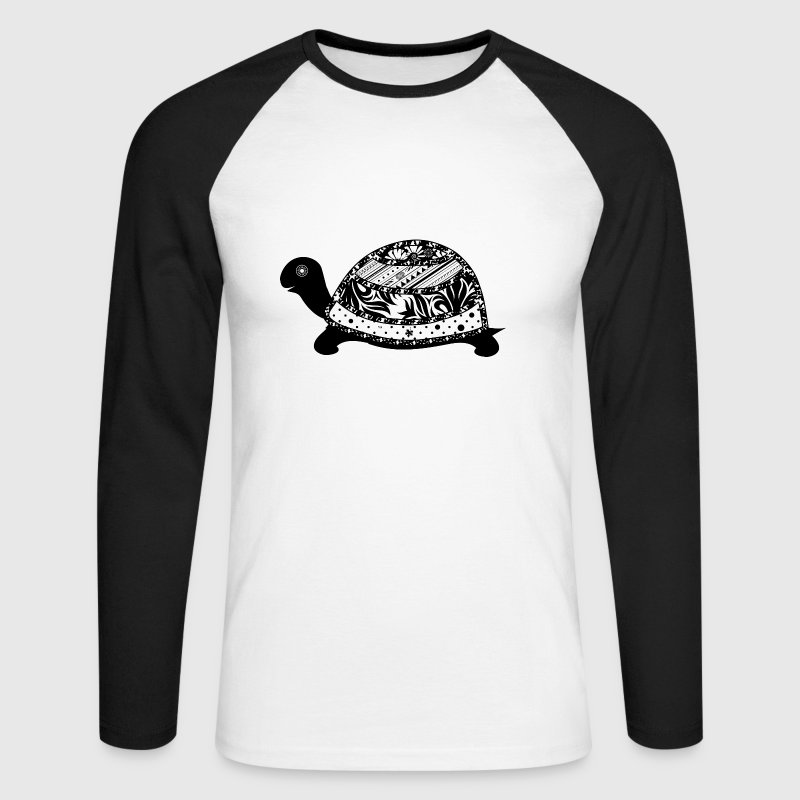 Une tortue Manches longues - T-shirt baseball manches longues Homme