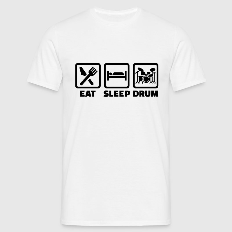 Eat sleep drum T-Shirts - Männer T-Shirt
