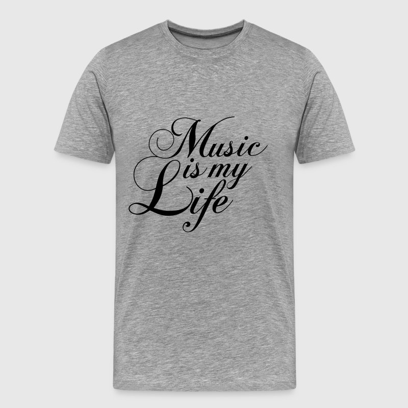 Cool Music is my Life Text Logo T-Shirts - Men's Premium T-Shirt
