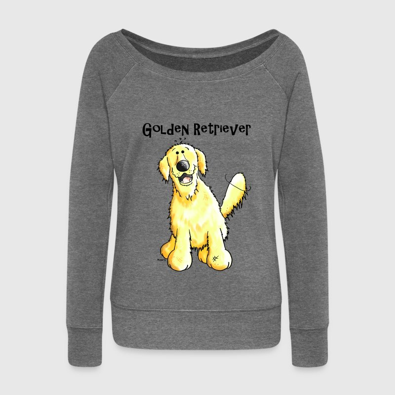 Golden Retriever Sweat-shirts - Pull Femme col bateau de Bella