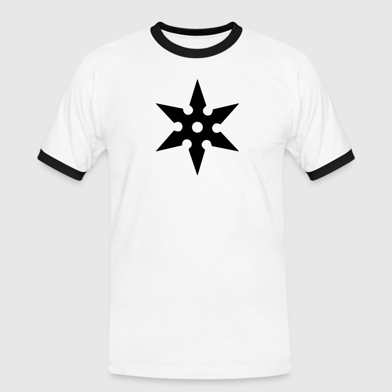 Shuriken Throwing Star, Ninja, Japan, Martial Arts - Männer Kontrast-T-Shirt