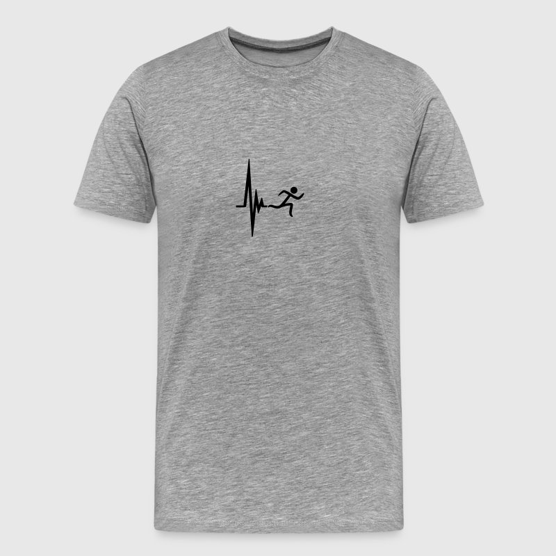 Heartbeat pulse frequency icon race T-Shirts - Men's Premium T-Shirt