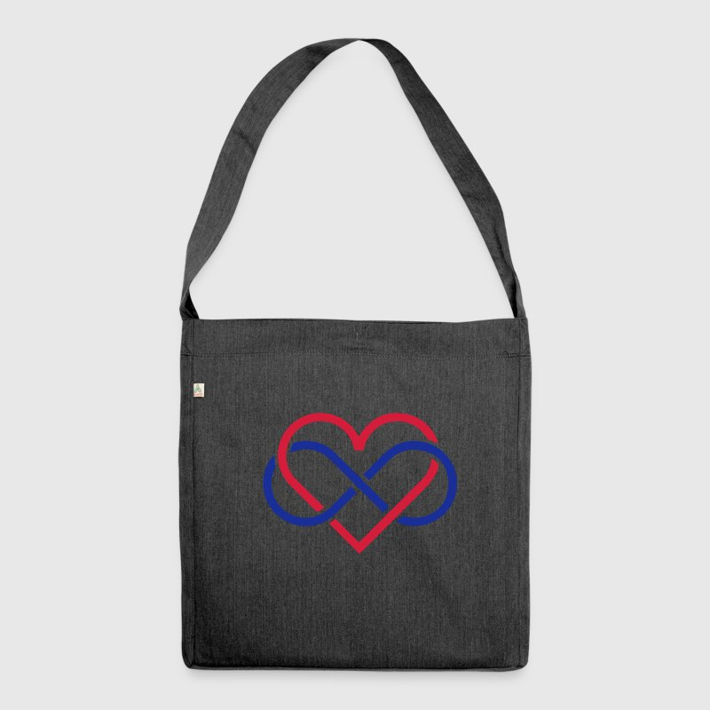 poly heart Bags & Backpacks - Shoulder Bag made from recycled material