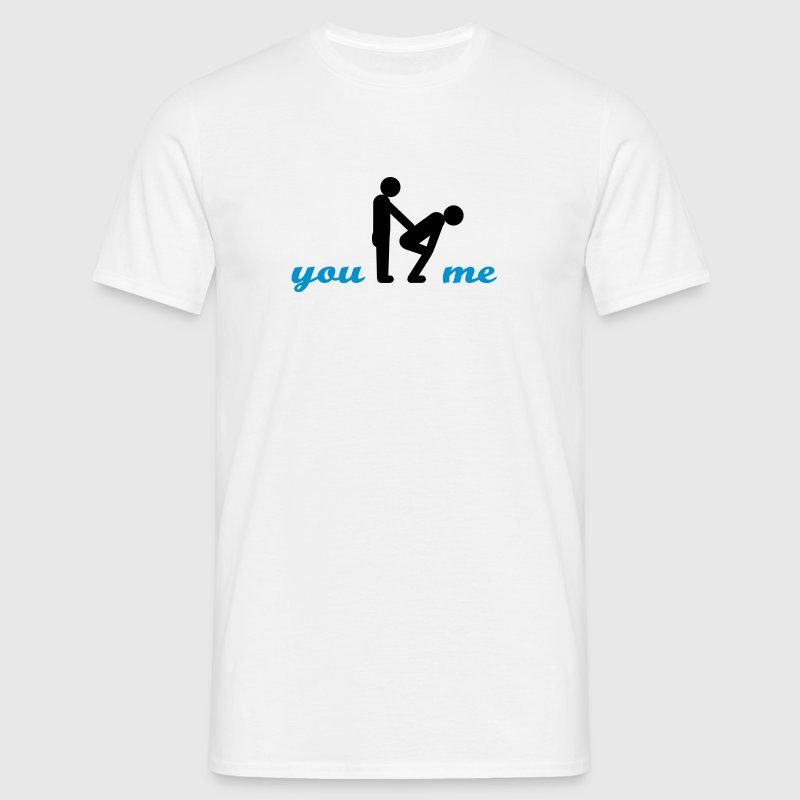 gay guys bottom - Mannen T-shirt