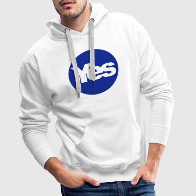 yes T-Shirts - Men's Premium Hoodie
