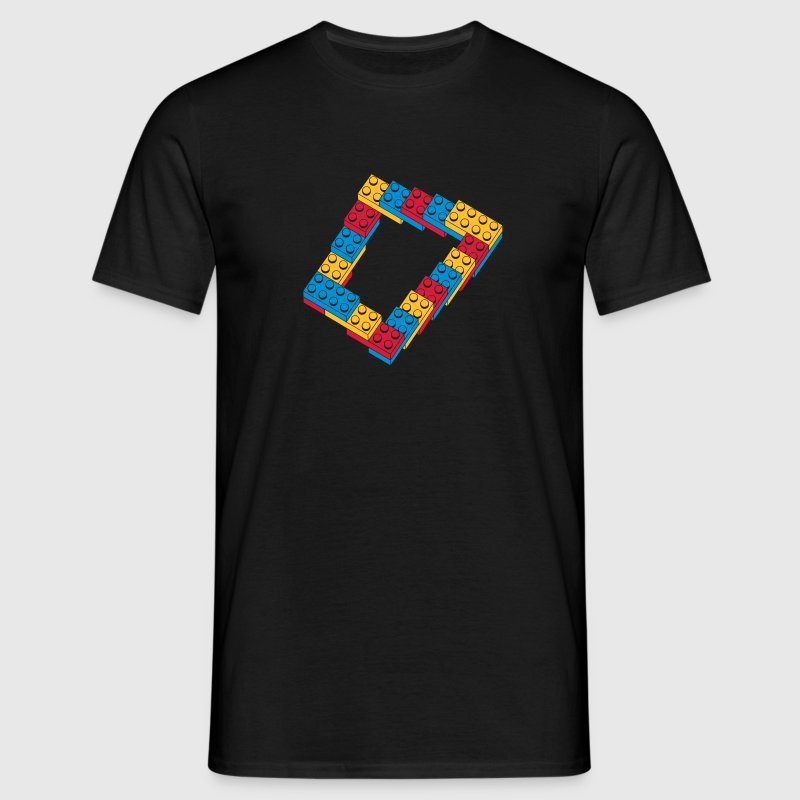 optical illusion - endless stairway - Mannen T-shirt