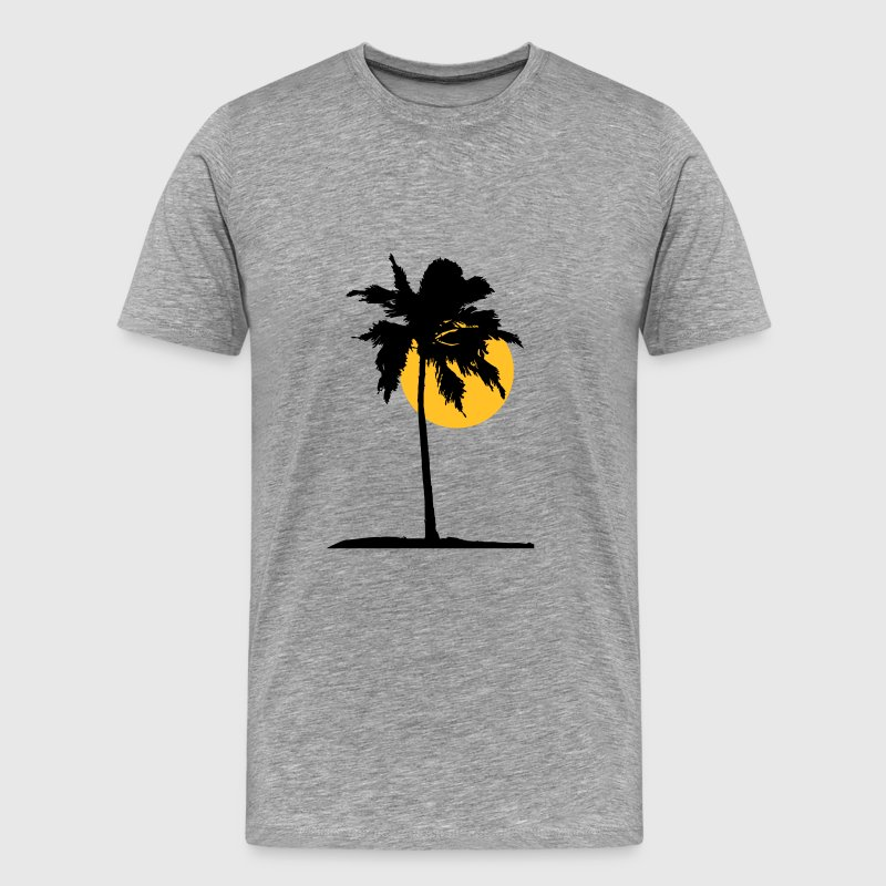 Palm tree on the beach sun sea T-Shirts - Men's Premium T-Shirt
