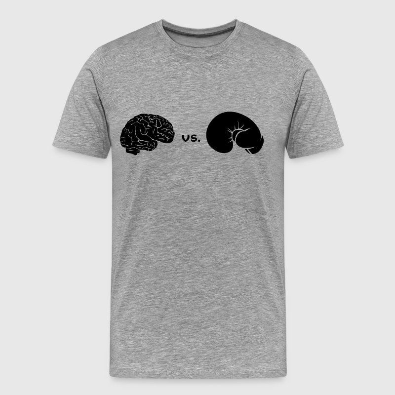 brain Vs. Boxing glove T-Shirts - Men's Premium T-Shirt