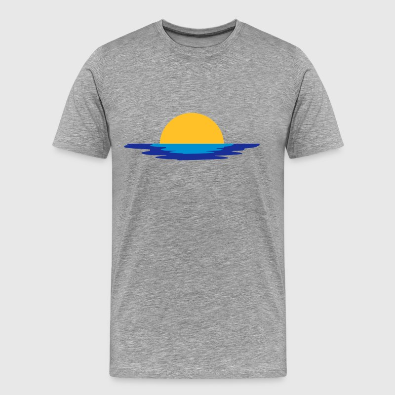 Sun sea water set rise holiday T-Shirts - Men's Premium T-Shirt