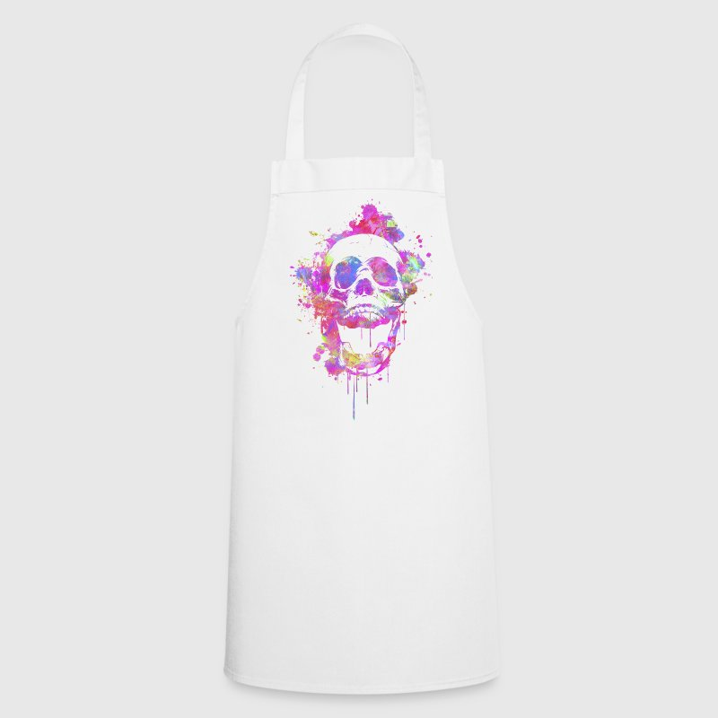 Cool & Trendy Watercolor Skull  Aprons - Cooking Apron