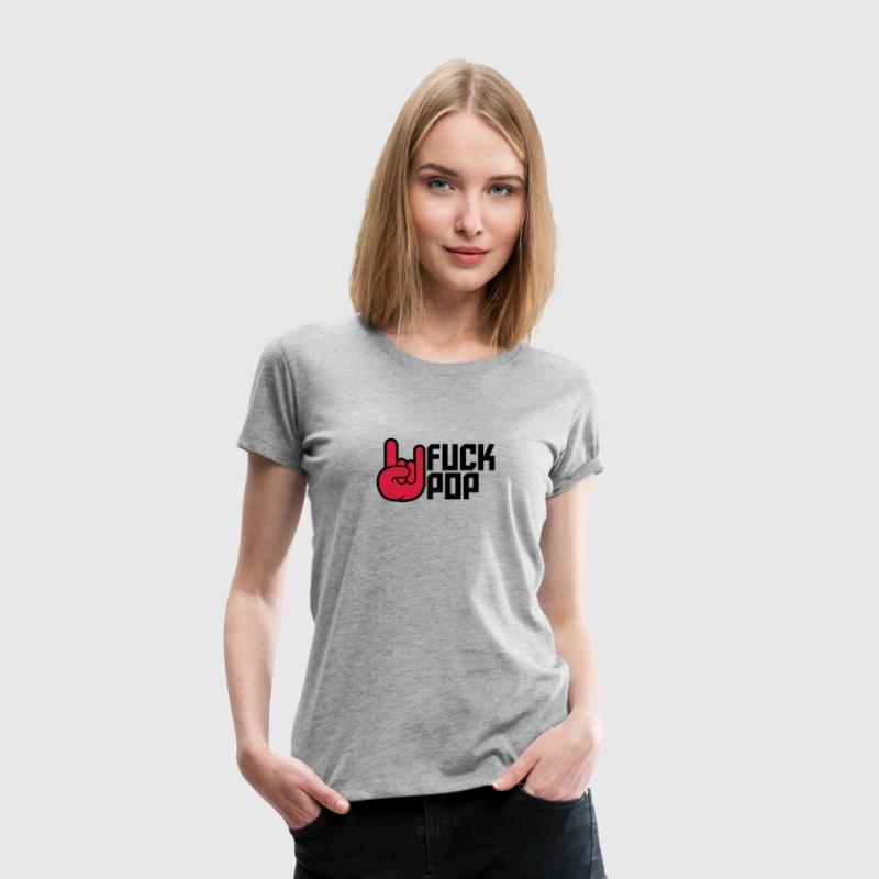 Cool Fuck Pop Metal Hand Design T-Shirts - Women's Premium T-Shirt