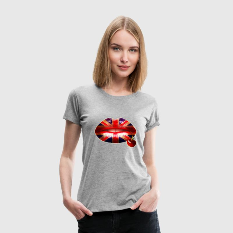British Cherry Lips - Women's Premium T-Shirt