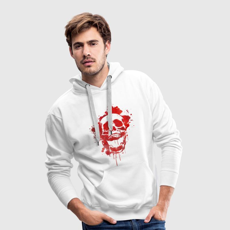 Blood splatter skull / Death Skull Hoodies & Sweatshirts - Men's Premium Hoodie