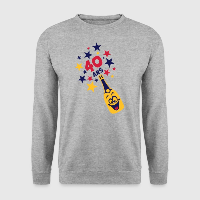 40 ans bouteille smiley etoile Sweat-shirts - Sweat-shirt Homme