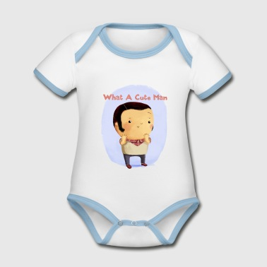Cute Man. version 2 Accessories - Organic Baby Contrasting Bodysuit