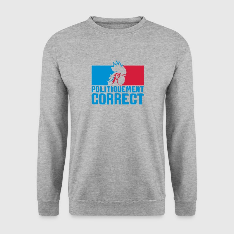politiquement correct coq embleme france Sweat-shirts - Sweat-shirt Homme