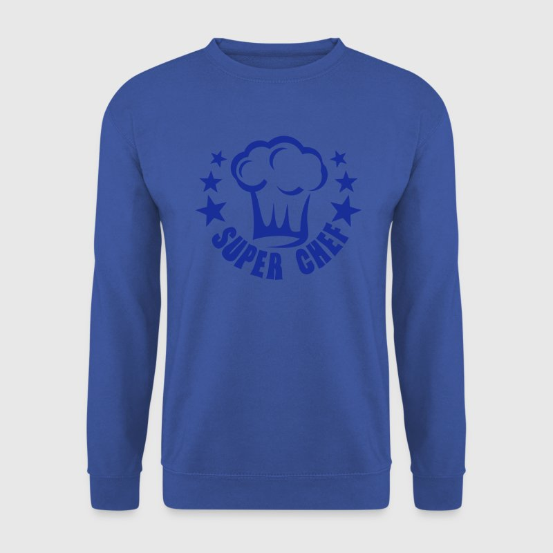 ajouter texte super chef toque cuisinier Sweat-shirts - Sweat-shirt Homme
