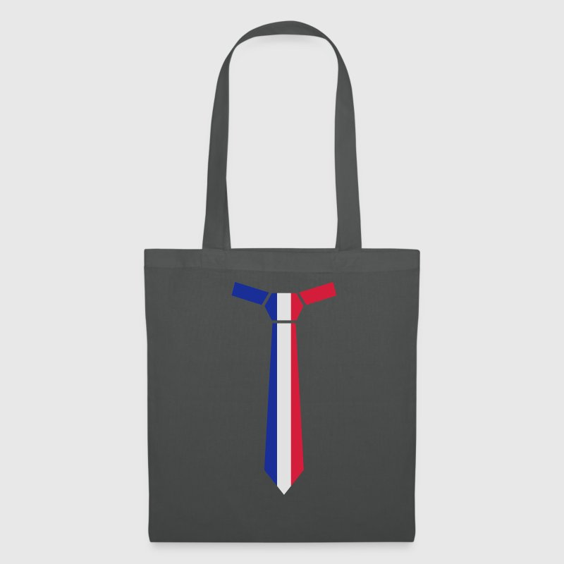 Gesteifte Krawatte, Striped Tie, Tricolore Bags & Backpacks - Tote Bag