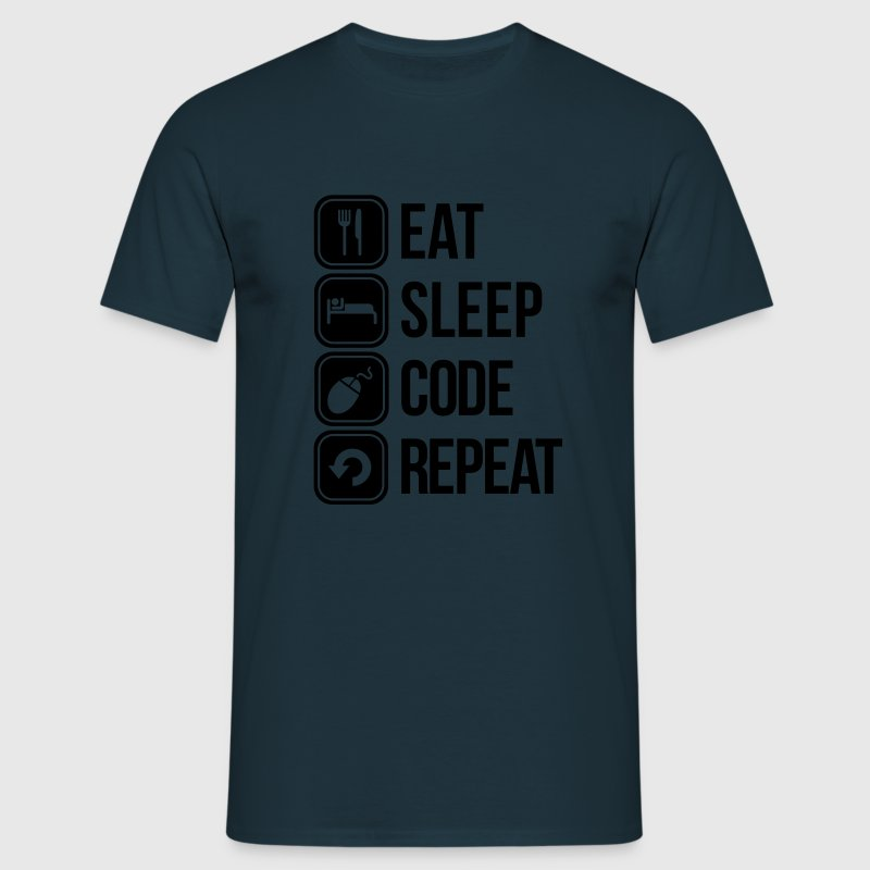 eat sleep code T-Shirts - Men's T-Shirt