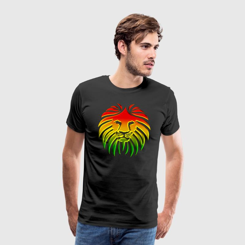Like a Lion, Lion, Reggae, King, Animal, Jamaica,  - Men's Premium T-Shirt
