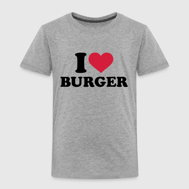 I love Burger T-Shirts - Kinder Premium T-Shirt