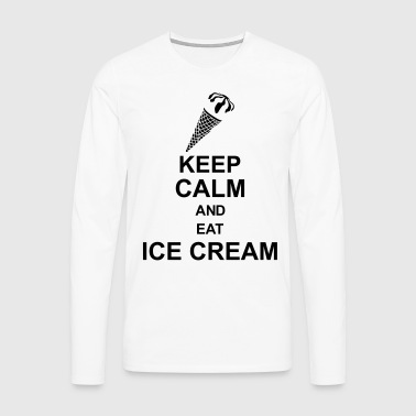 keep_calm_and_eat_ice_cream_g1 Grembiuli - Maglietta Premium a manica lunga da uomo