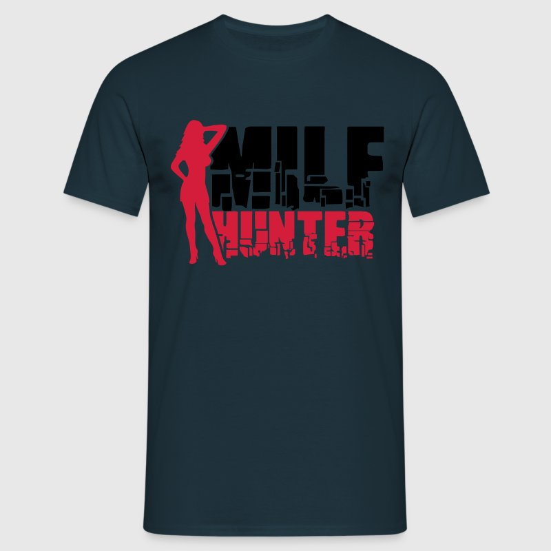 Sexy Milf Hunter Logo T-Shirts - Men's T-Shirt