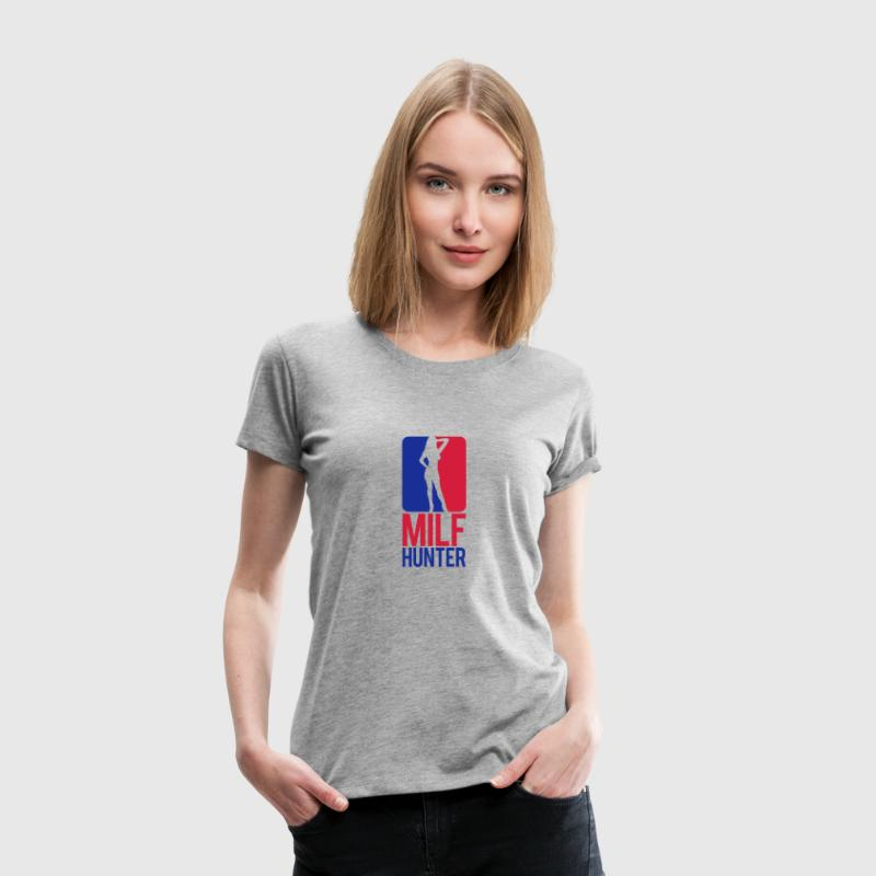 Milf Hunter Sports Logo Design Camisetas - Camiseta premium mujer