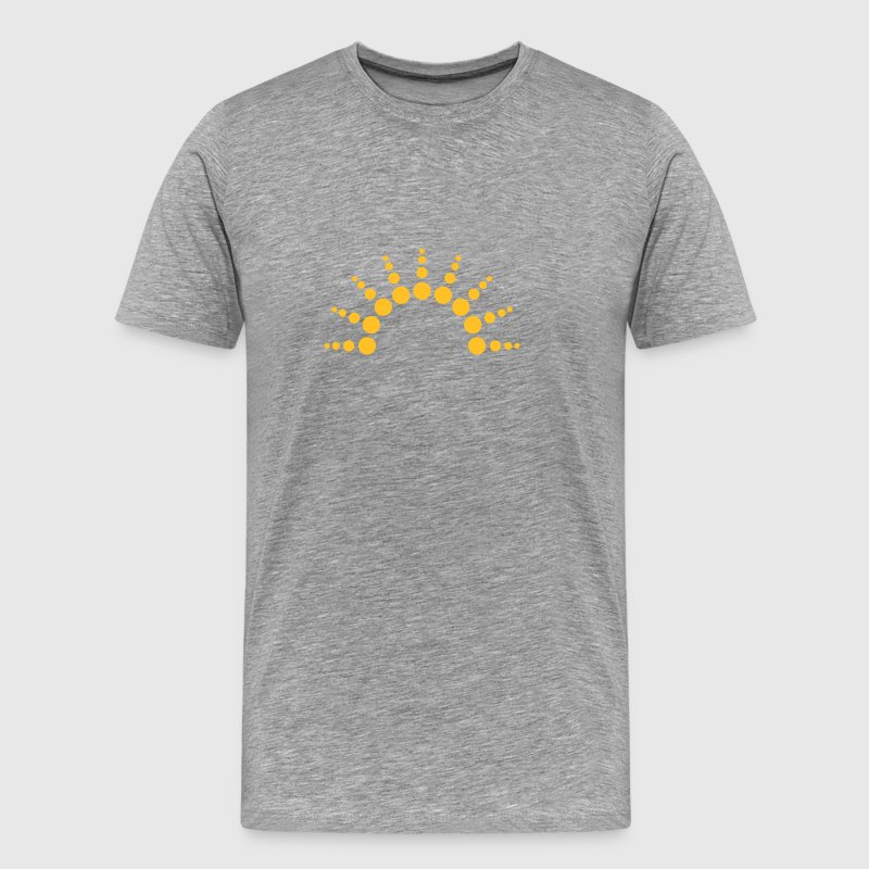 Half-circle circles points Sun logo T-Shirts - Men's Premium T-Shirt