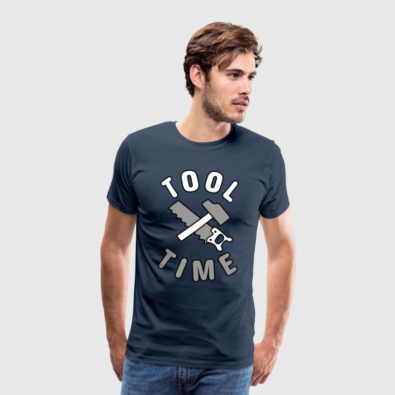 Tool Time saw and hammer T-Shirts - Men's Premium T-Shirt