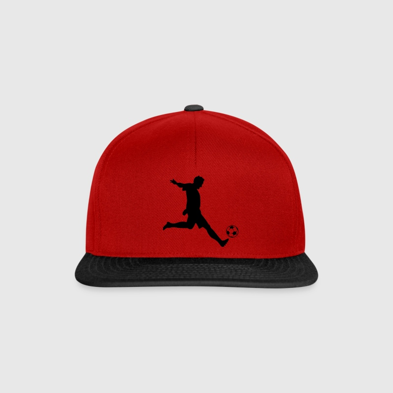 Soccer Player Silhouette Caps & Hats - Snapback Cap