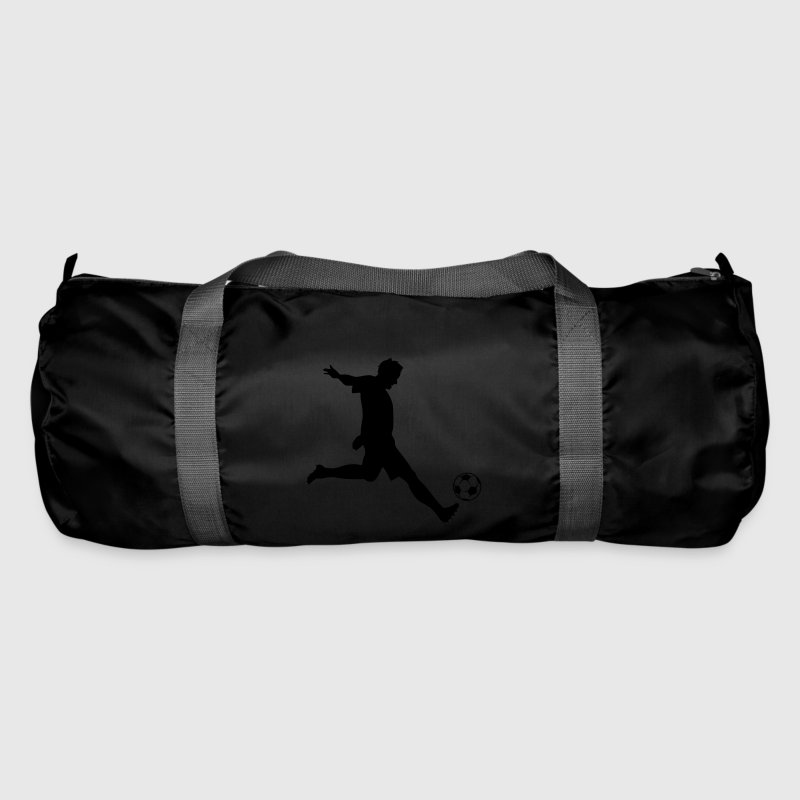 Soccer Player Silhouette Bags & Backpacks - Duffel Bag
