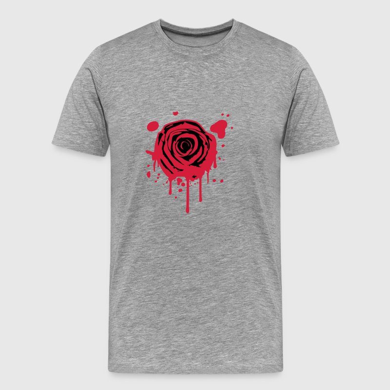 Red blood splashes KLEX graffiti rose T-Shirts - Men's Premium T-Shirt