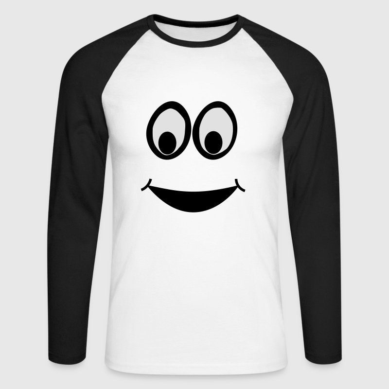 Funny Face, Cartoon Face, Trickfilm, Smiley Long sleeve shirts - Men's Long Sleeve Baseball T-Shirt