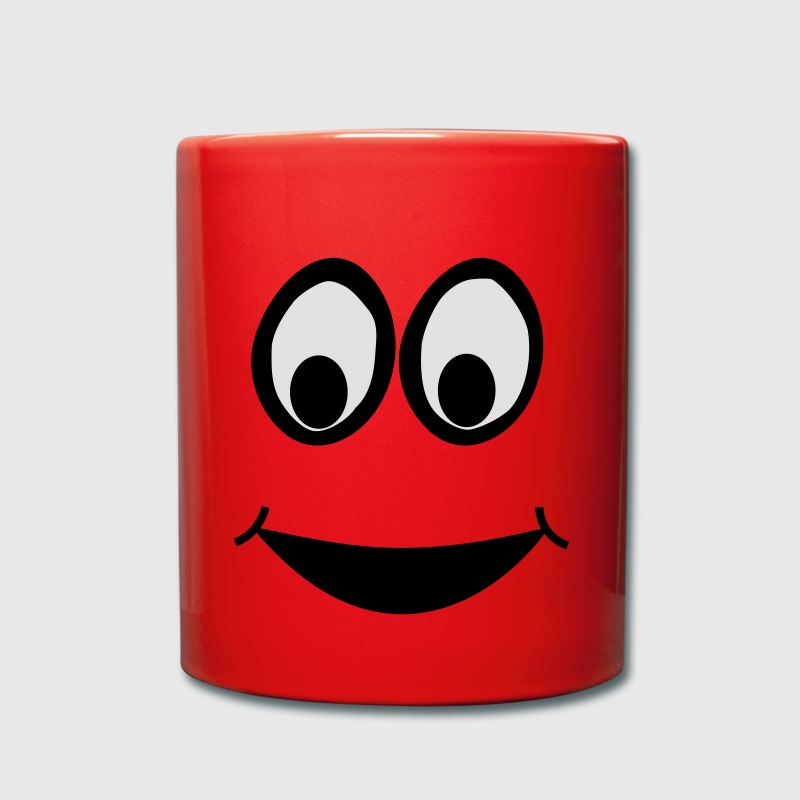 Funny Face, Cartoon Face, Trickfilm, Smiley Bottles & Mugs - Full Colour Mug