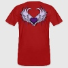 Heart with Wings T-shirts - Mannen Bio-T-shirt