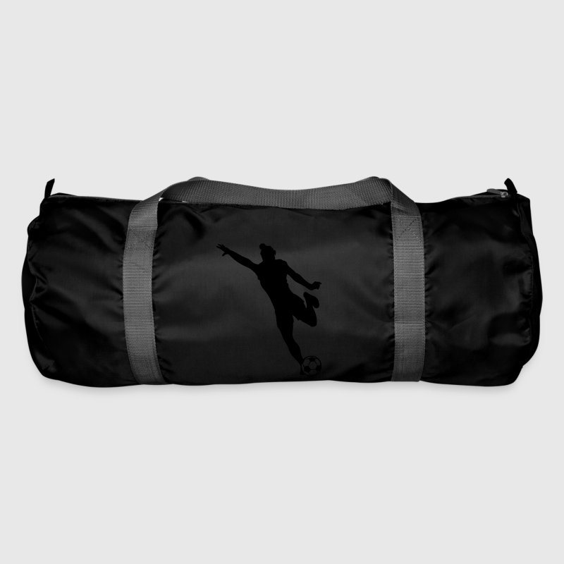 women's soccer silhouette / female football Bags & Backpacks - Duffel Bag