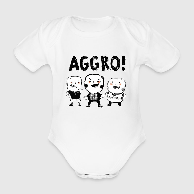 AGGRO Boys don't fear! Shirts - Organic Short-sleeved Baby Bodysuit