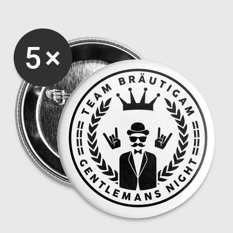 Team Bräutigam - Gentlemans night Buttons & Anstecker - Buttons klein 25 mm