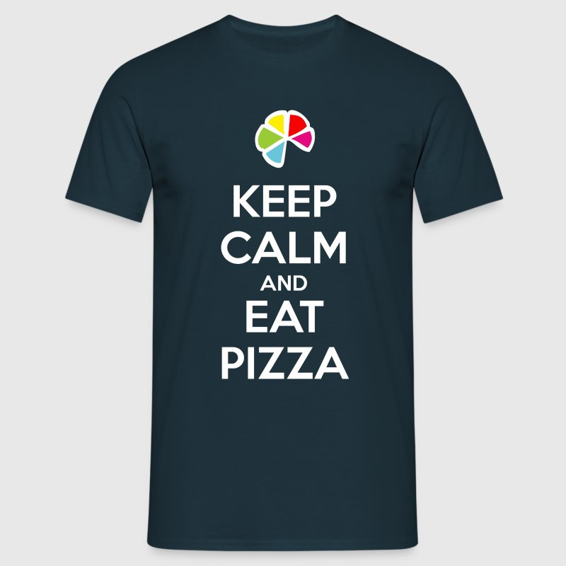 Keep Calm and Eat Pizza 1 (dark) Tee shirts - T-shirt Homme