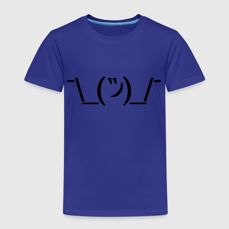 Kinder Premium T-Shirt Emoticon Shruggie - Kinder Premium T-Shirt